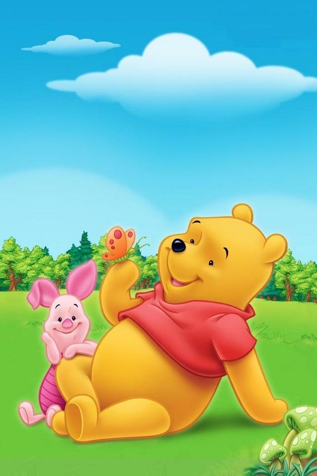 Pooh wallpaper wallpapersafari winnie the pooh piglet download iphoneipod touchandroid wallpapers 640x960 voltagebd Image collections