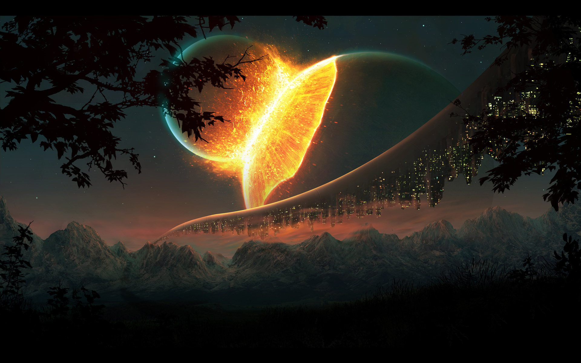Name Cool image of synergy desktop wallpaper of planet explosion 1920x1200