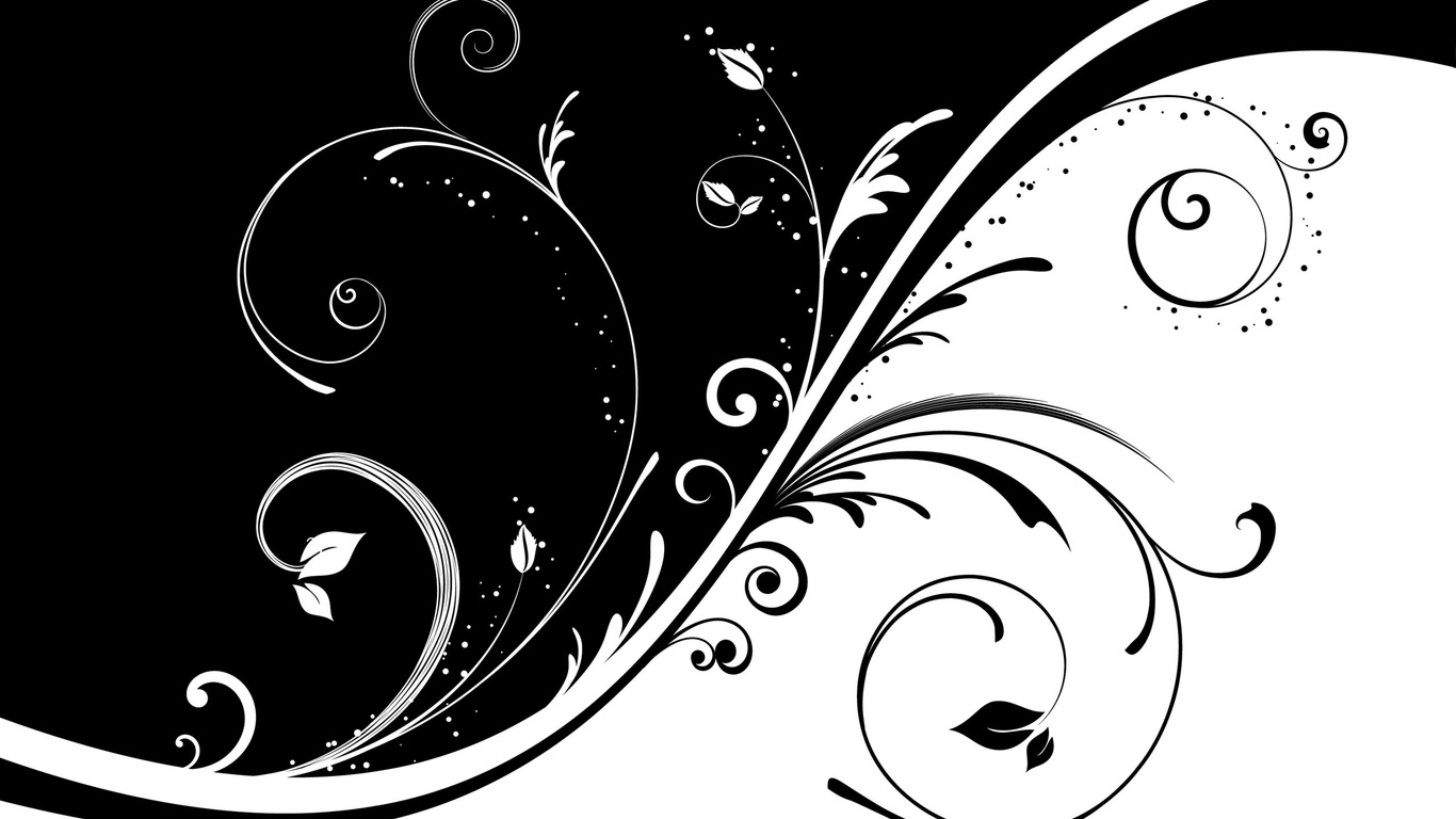 black and white 3D   wallpapers photo on the desktop pictures 3d 1366x768