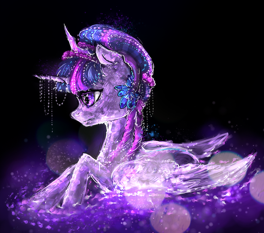 Crystal Pony Princess Twilight Sparkle by ElkaArt 900x795