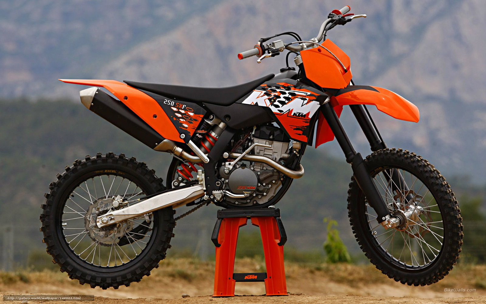 Download wallpaper KTM Motocross SX 250 SX F 250 SX F 2008 1600x1000