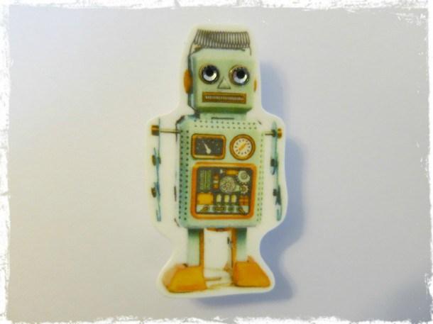 Retro Robot Wallpaper Backgrounds 610x457