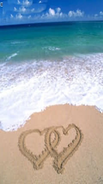 Beach Hearts Cell Phone Wallpapers 360x640 Cellphone Hd Wallpapers ...