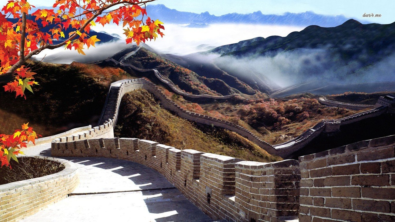 great wall of china Computer Wallpapers Desktop Backgrounds 1366x768