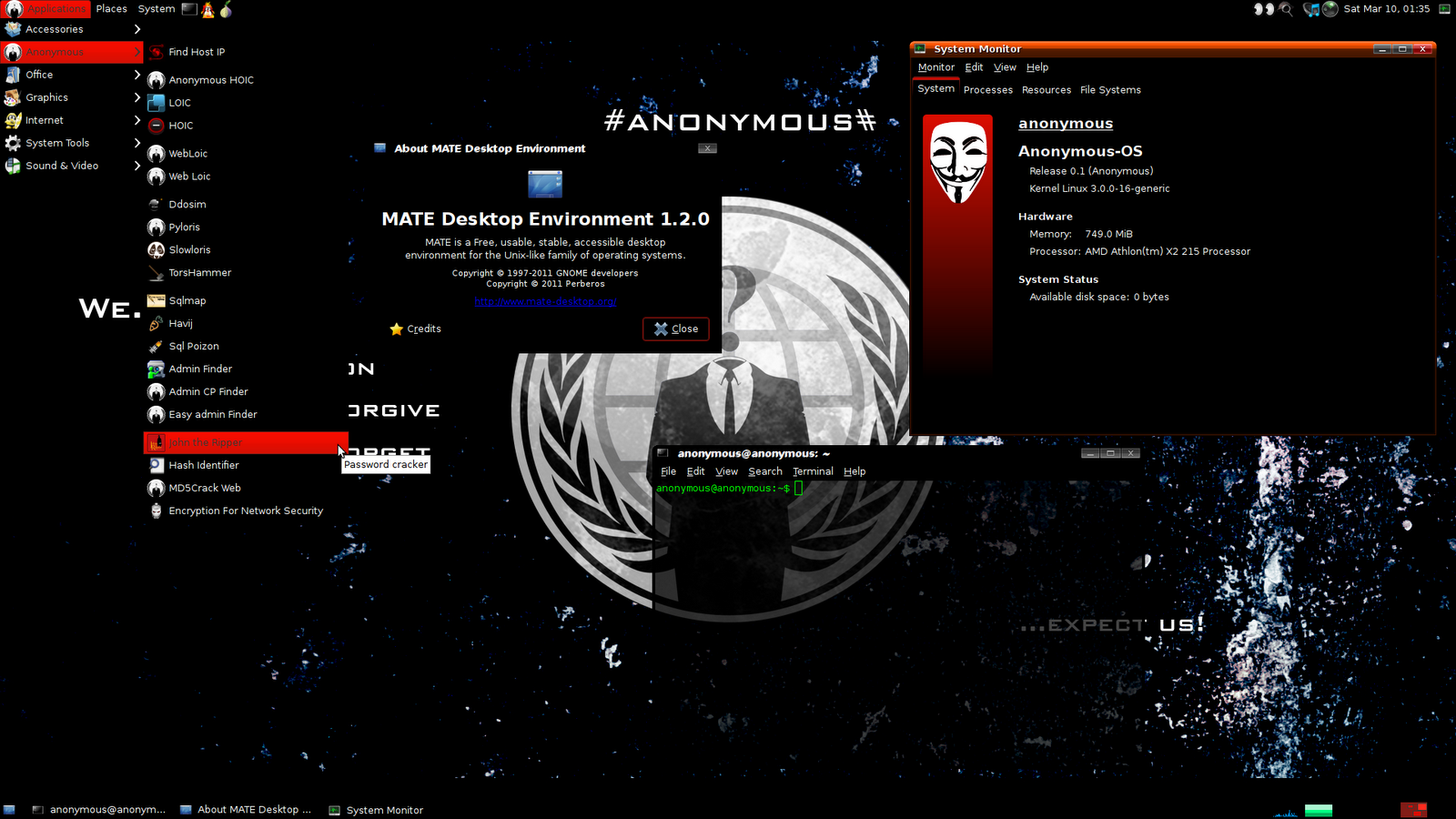 Anonymous OS 01 Anonymous Hackers released their own Operating 1600x900