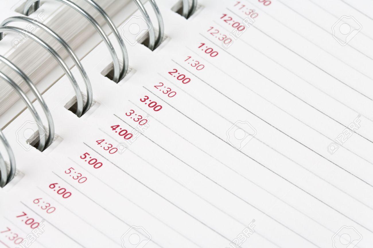 Calendar Agenda Schedule Close Up Shot For Background Stock 1300x866