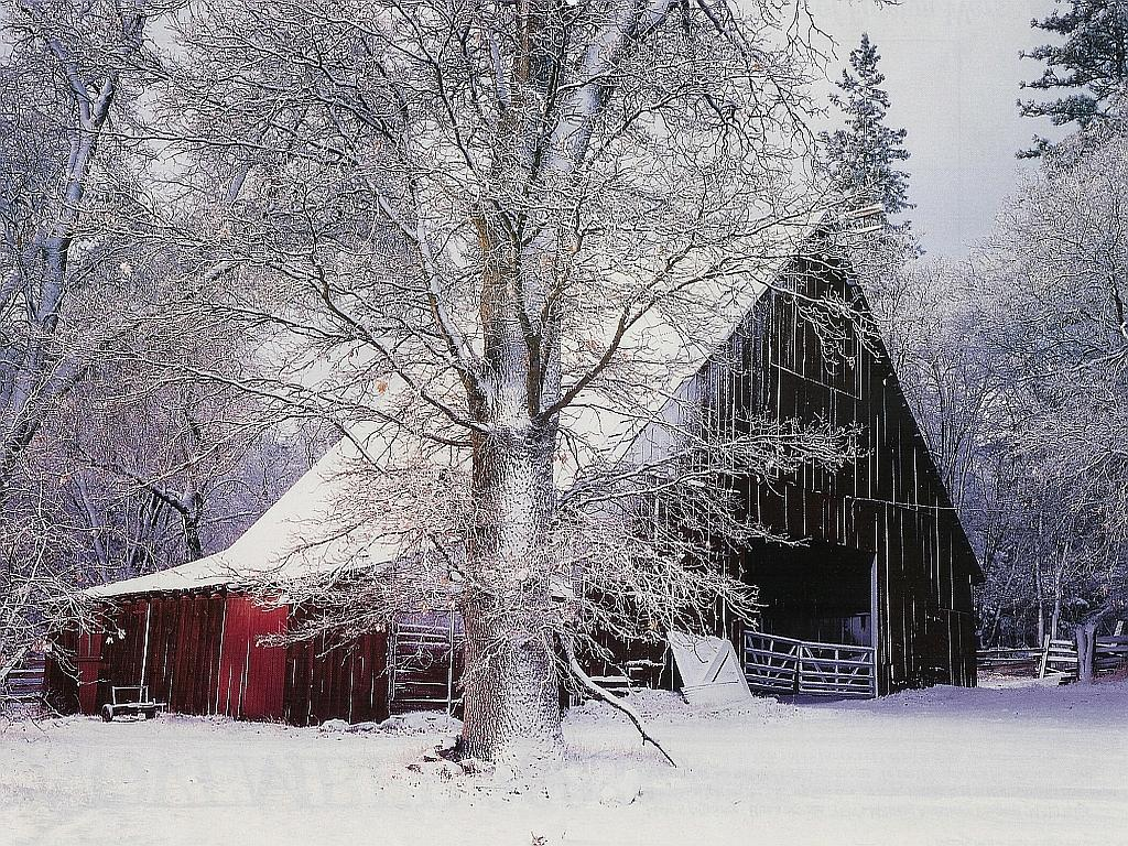 Snowy Farms Wallpaper Wallpapersafari