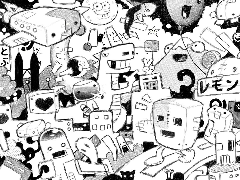 Free download Cool Doodle Backgrounds [1024x768] for your Desktop