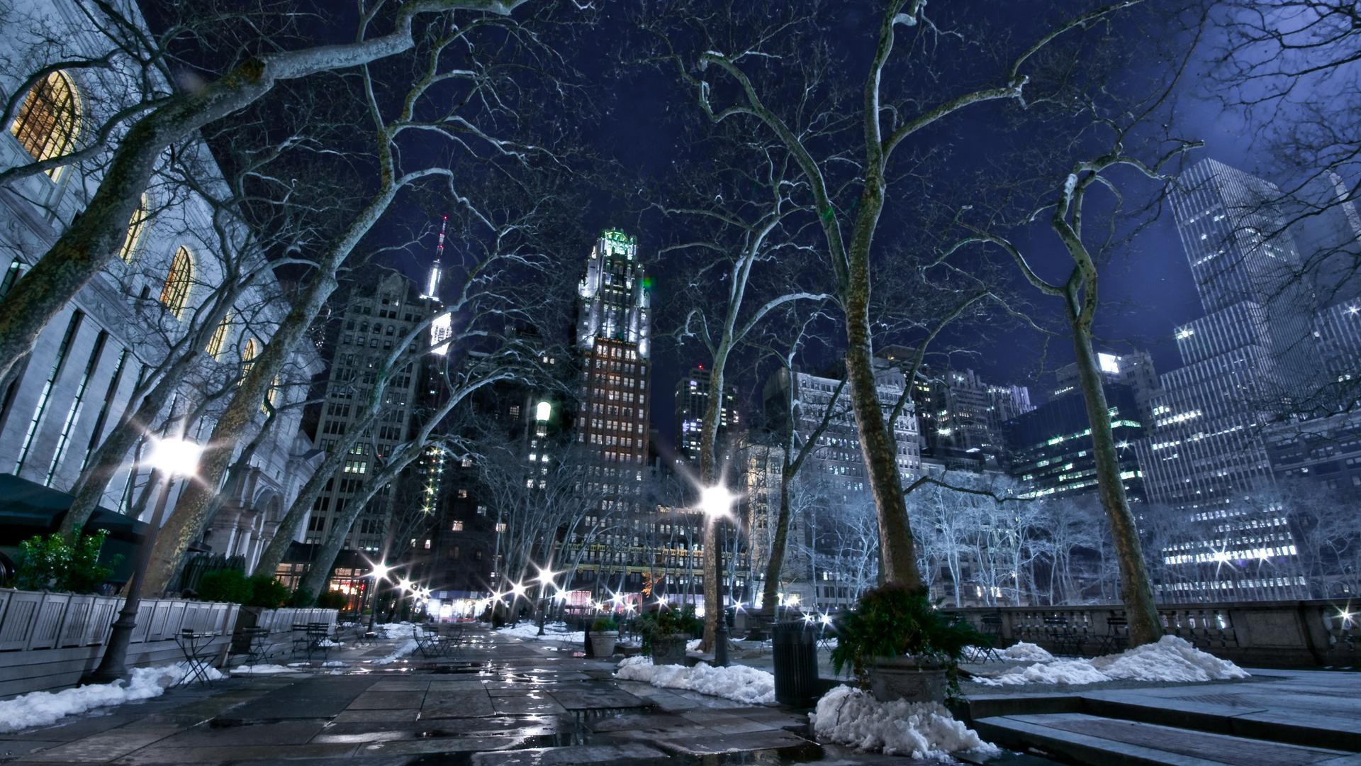 Winter New York Winter City 1920x1080