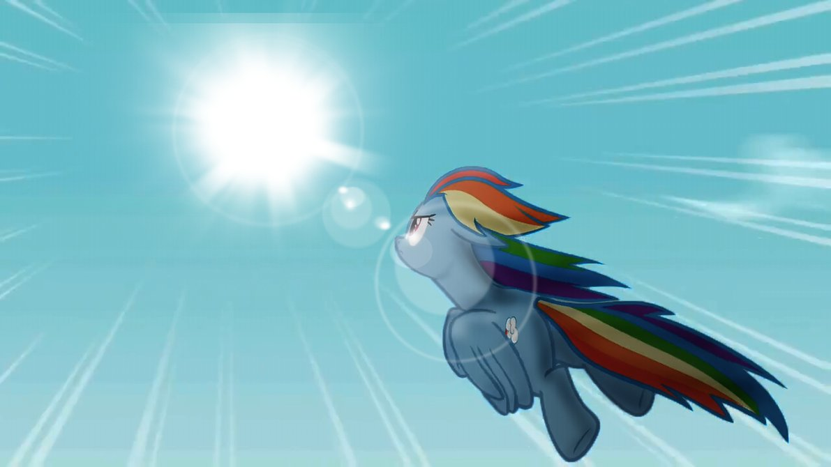 Rainbow Dash Wallpaper by MoonGazerThePony 1191x670