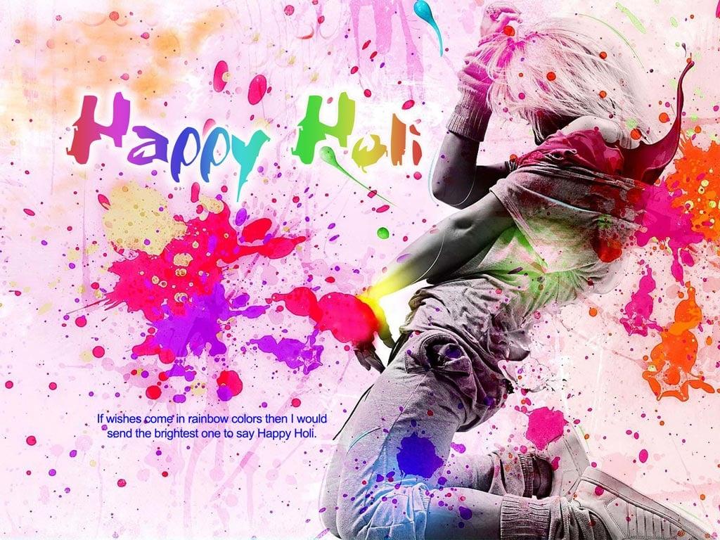 Happy Holi sms MessagesHoli Wishes Holi Greetings 2014Holi Cards 1024x768