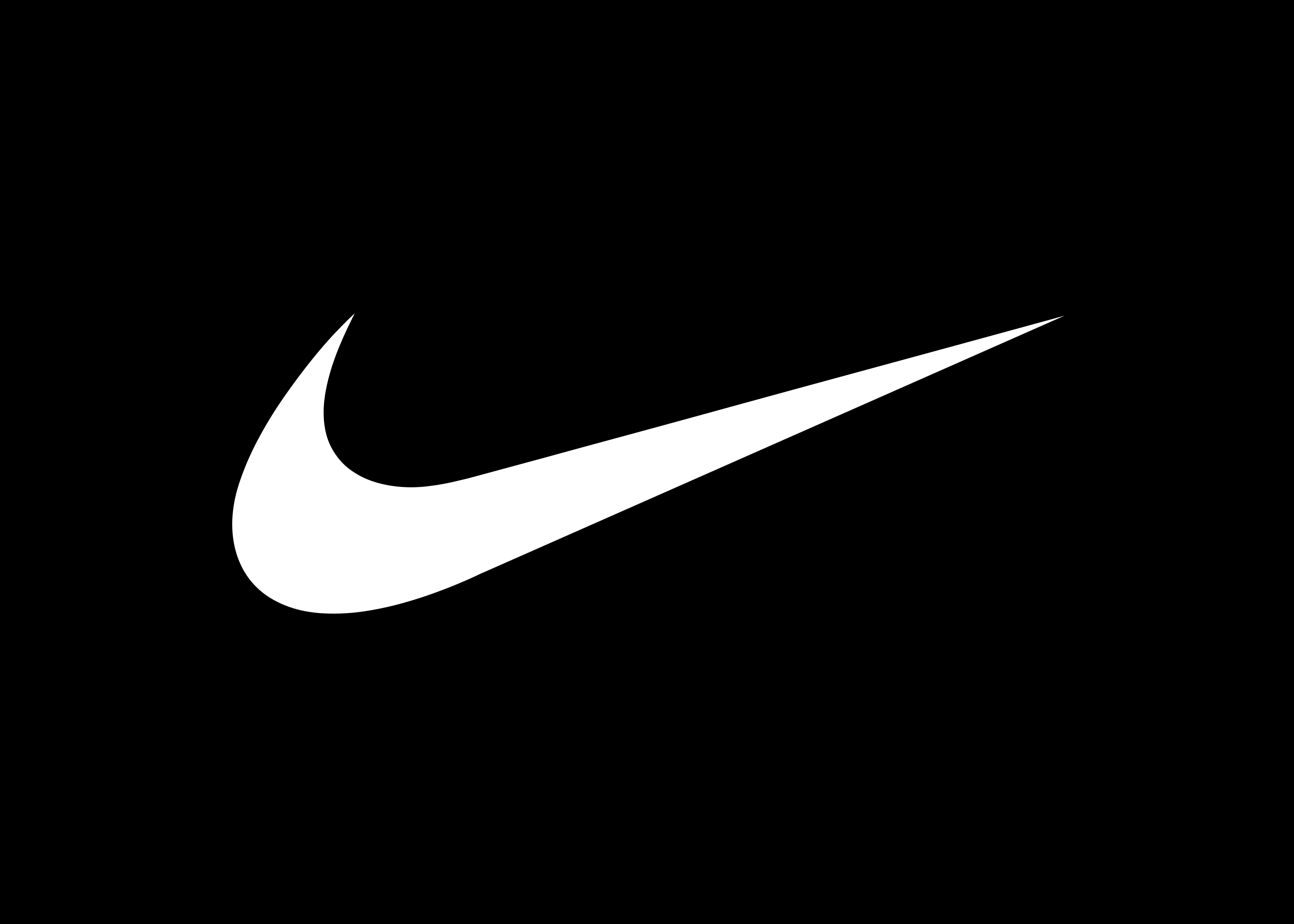 White And Black Nike Logo High Resolution In HD Wallpaper 7216x5154