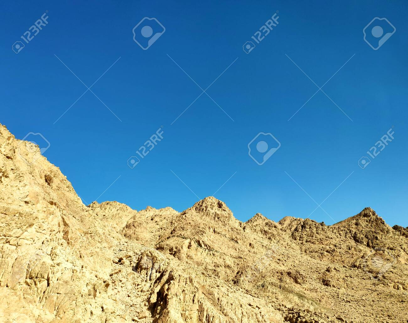 Rocks In The Desert Sinai Desert Mountains Landscape Wallpaper 1300x1030