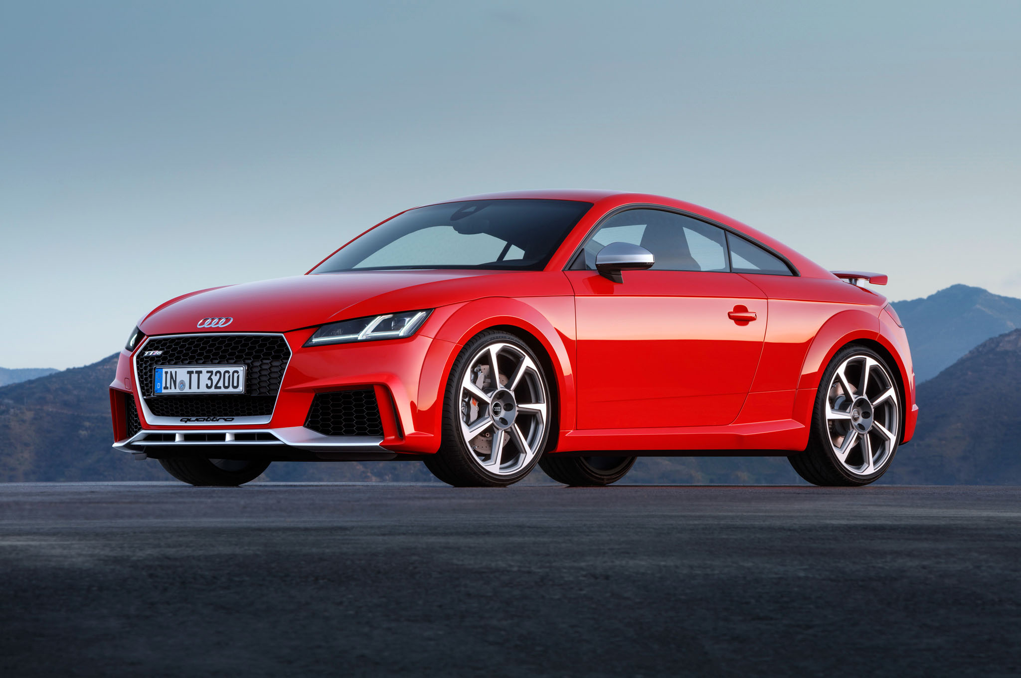 2017 Audi TT RS Coupe Background Wallpaper HD Car Wallpapers 2048x1360