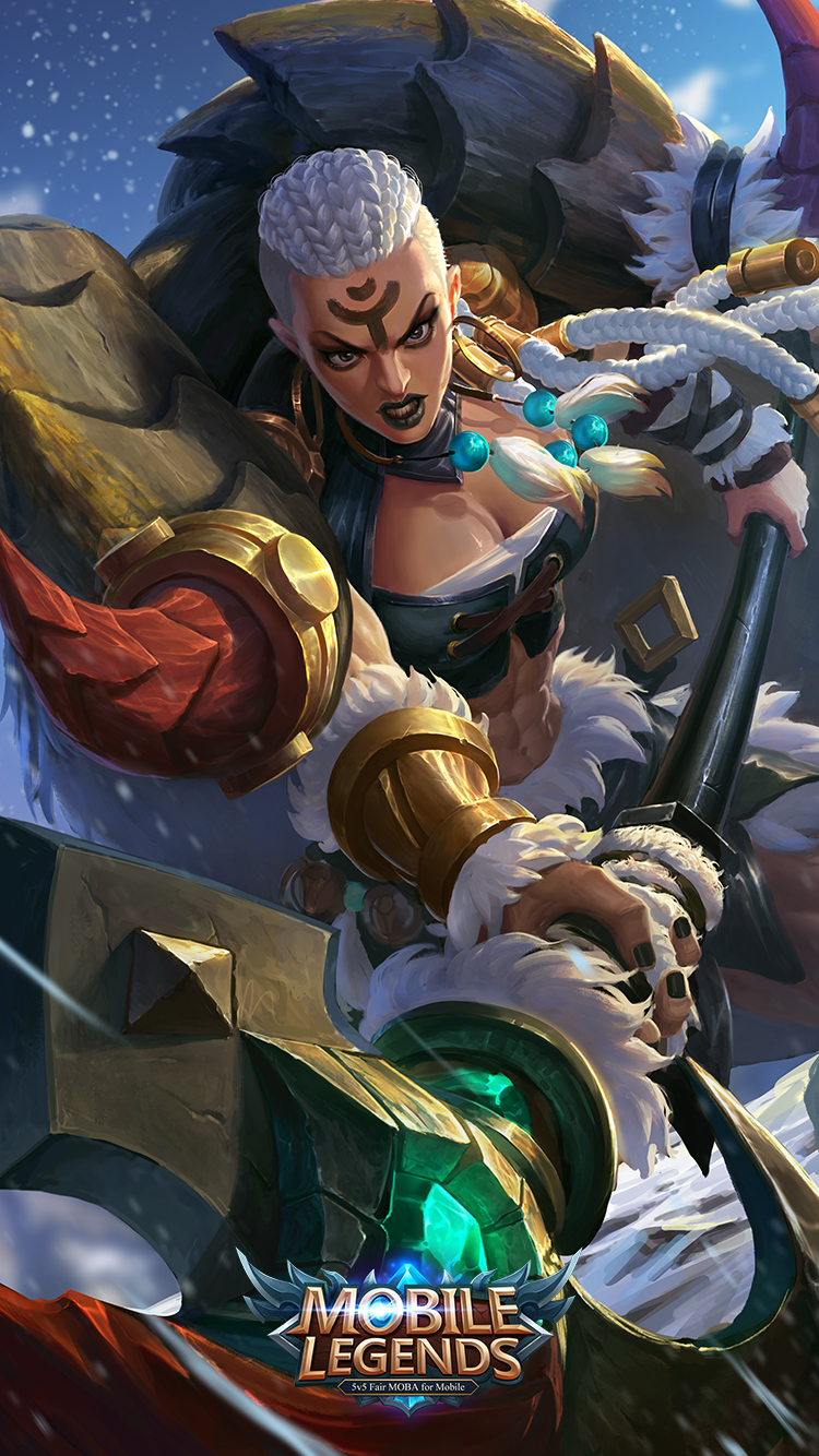 Mobile Legends Hilda Power of Wildness Skin   Wallpaperspit 750x1334