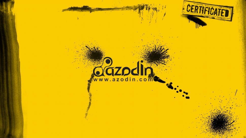 Azodin Website Address Yellow Background wallpaper art and 970x545