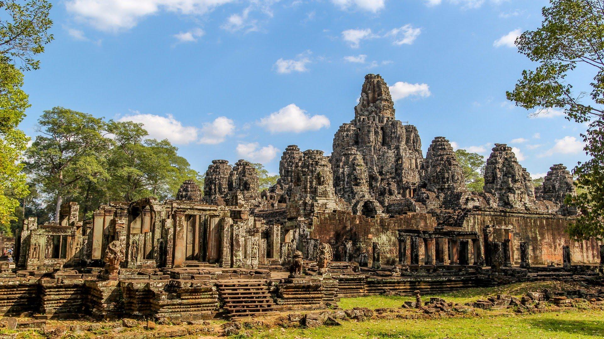 Bayon Temple   cambodiatravel 1920x1080