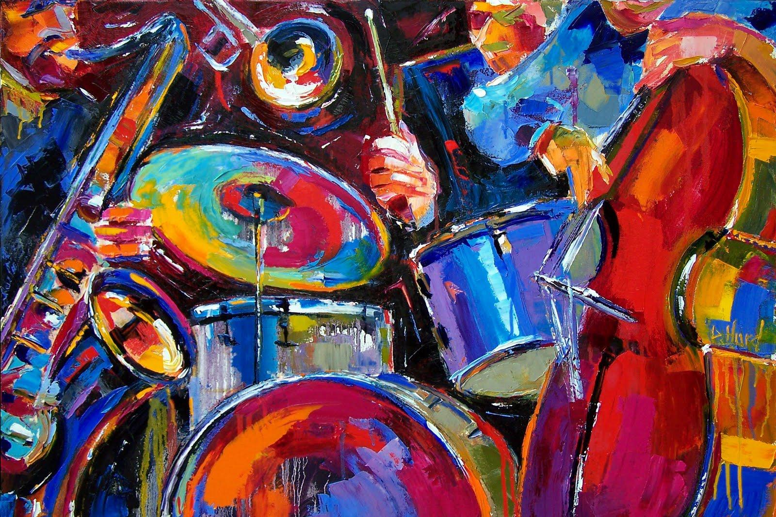 1920x1080 Multicolor Jazz Singer Artwork Desktop Pc And: Jazz Art Wallpaper
