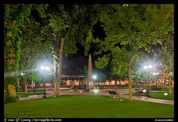 PicturePhoto Park on the Plazza by night Santa Fe New Mexico USA 576x394