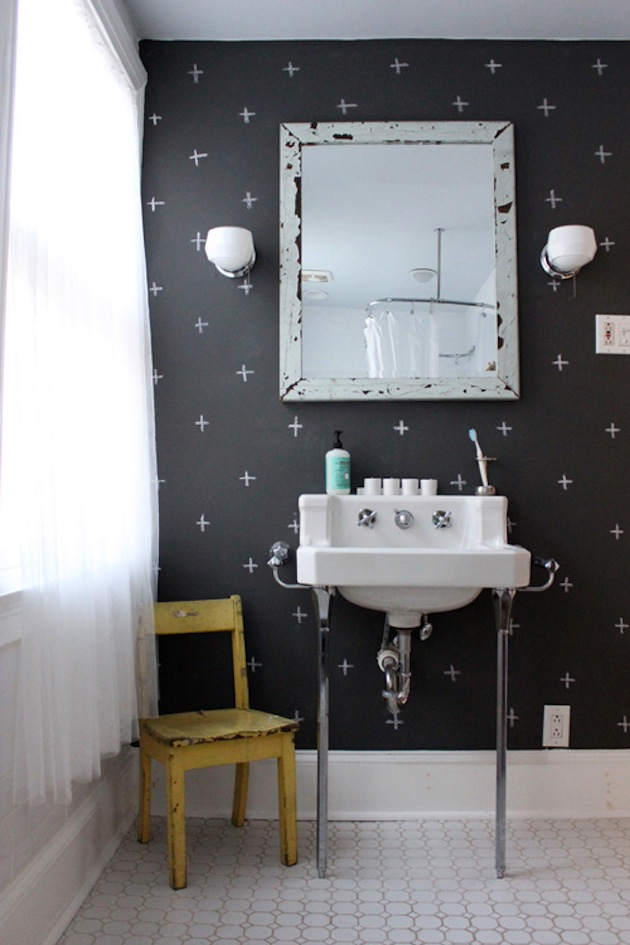 50 Black And White Bathroom Wallpaper On Wallpapersafari