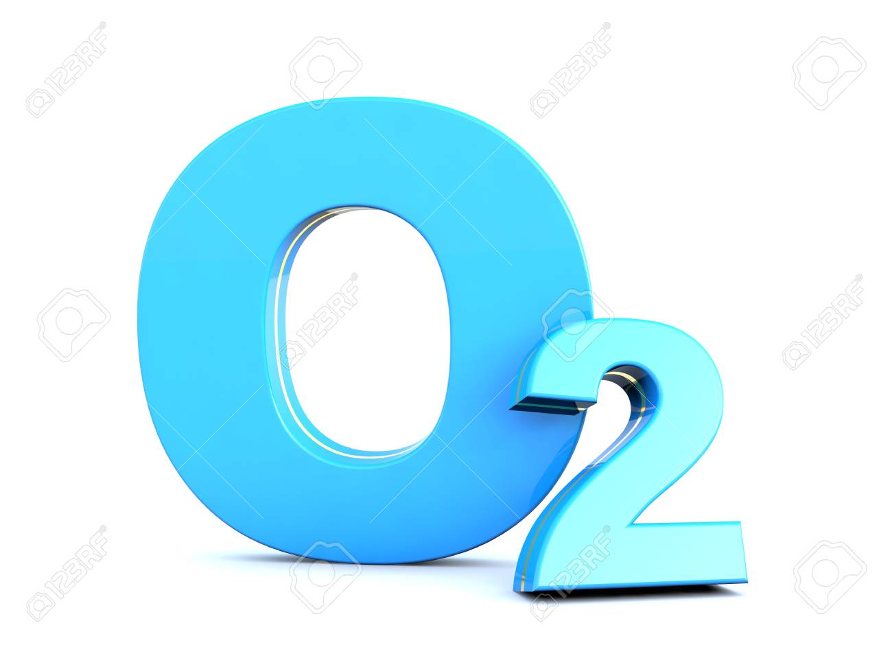 O2   Blue Oxygen Molecule Symbol On White Background Stock Photo 1300x975