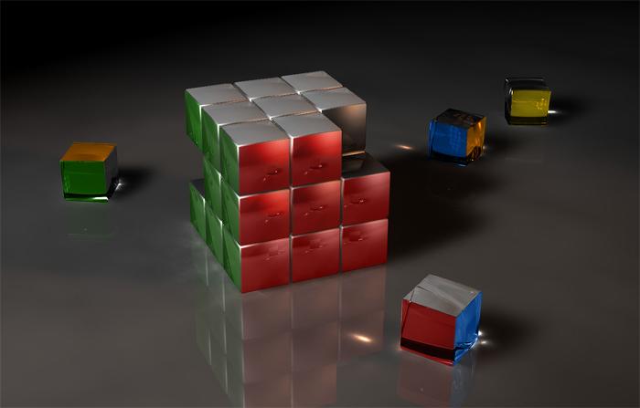 Cool Rubix Cube Wallpaper 700x447