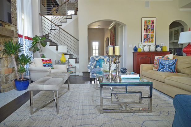 My Houzz Color Happy Country Living in Fort Worth 618x411