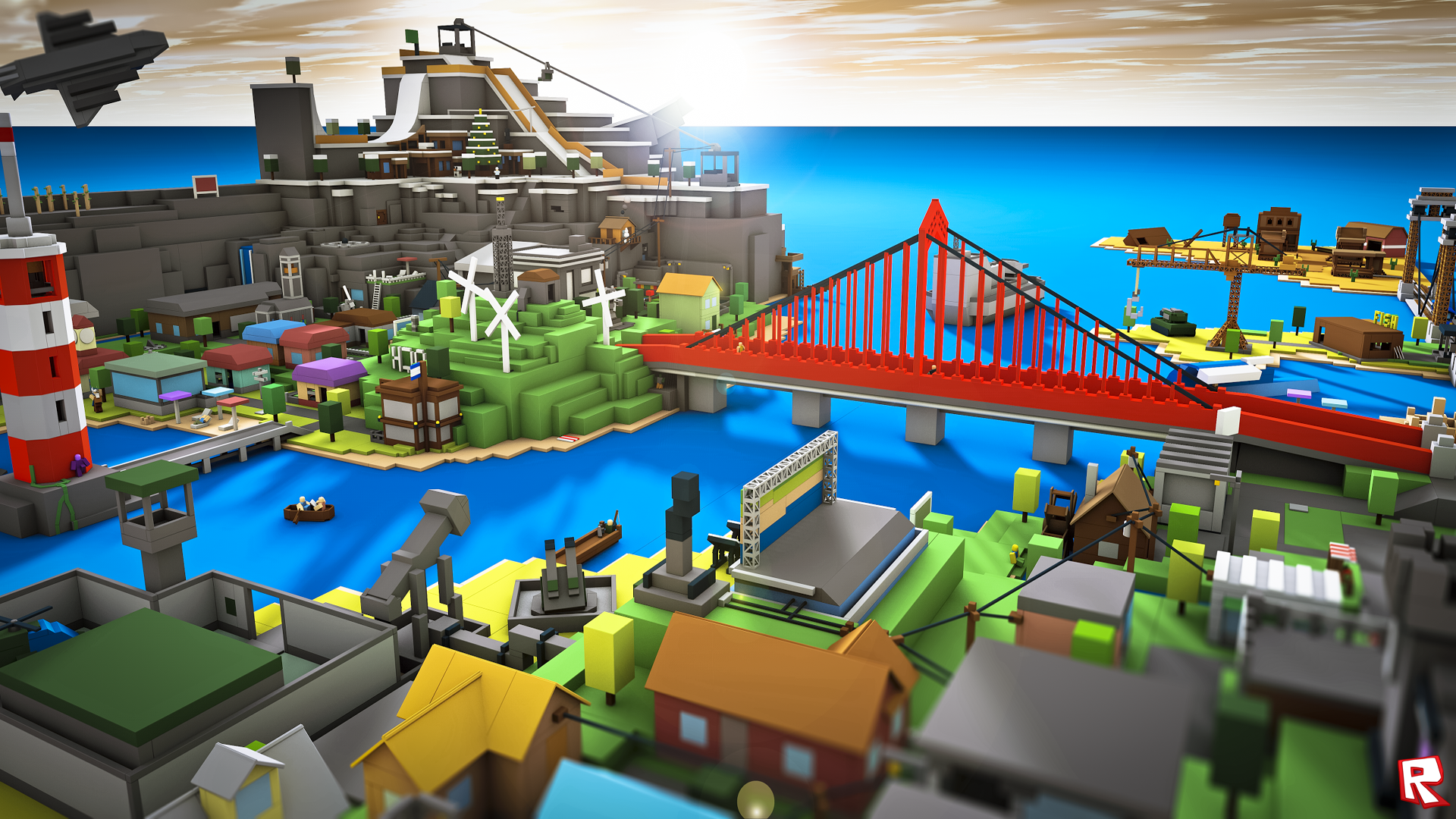 Group Of Roblox City Wallpaper