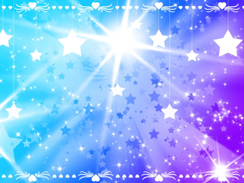 Pretty Star Heart Background by YuniNaoki 1024x768