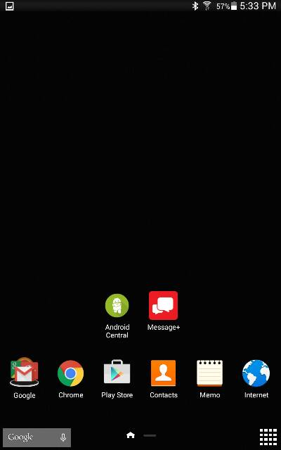 How can i have a plain black wallpaper for Home screen screenshot 400x640
