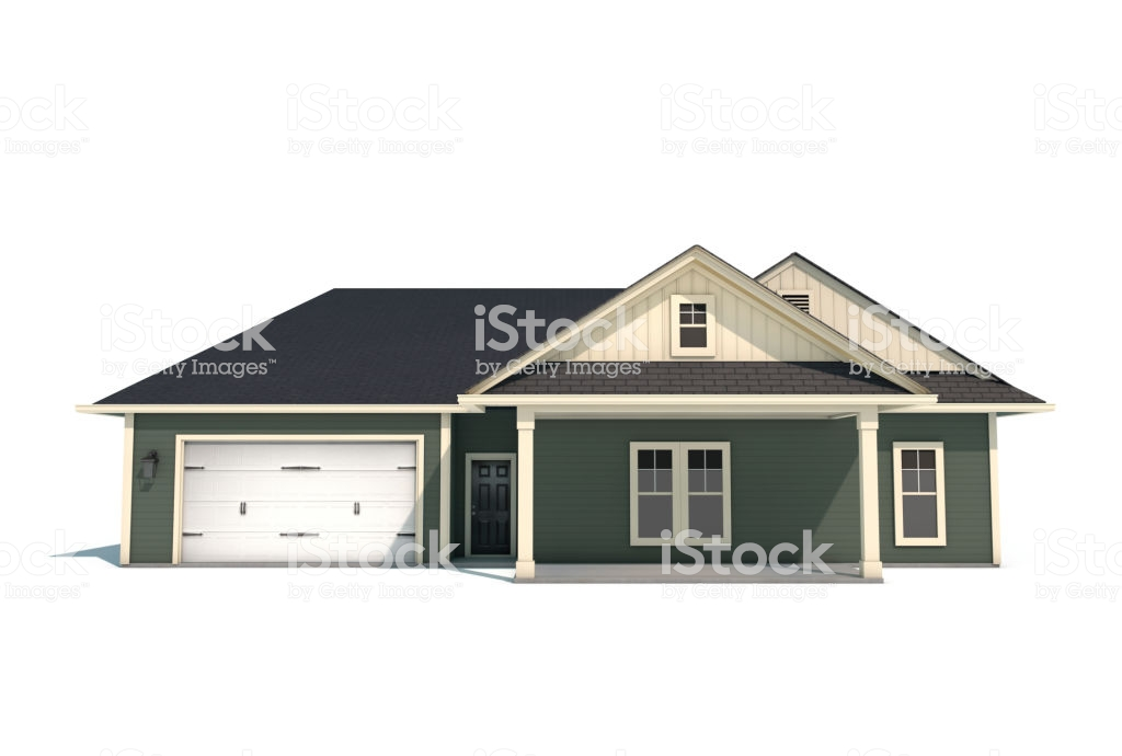 3d Craftsman Style House On White Background Stock Photo 1024x690