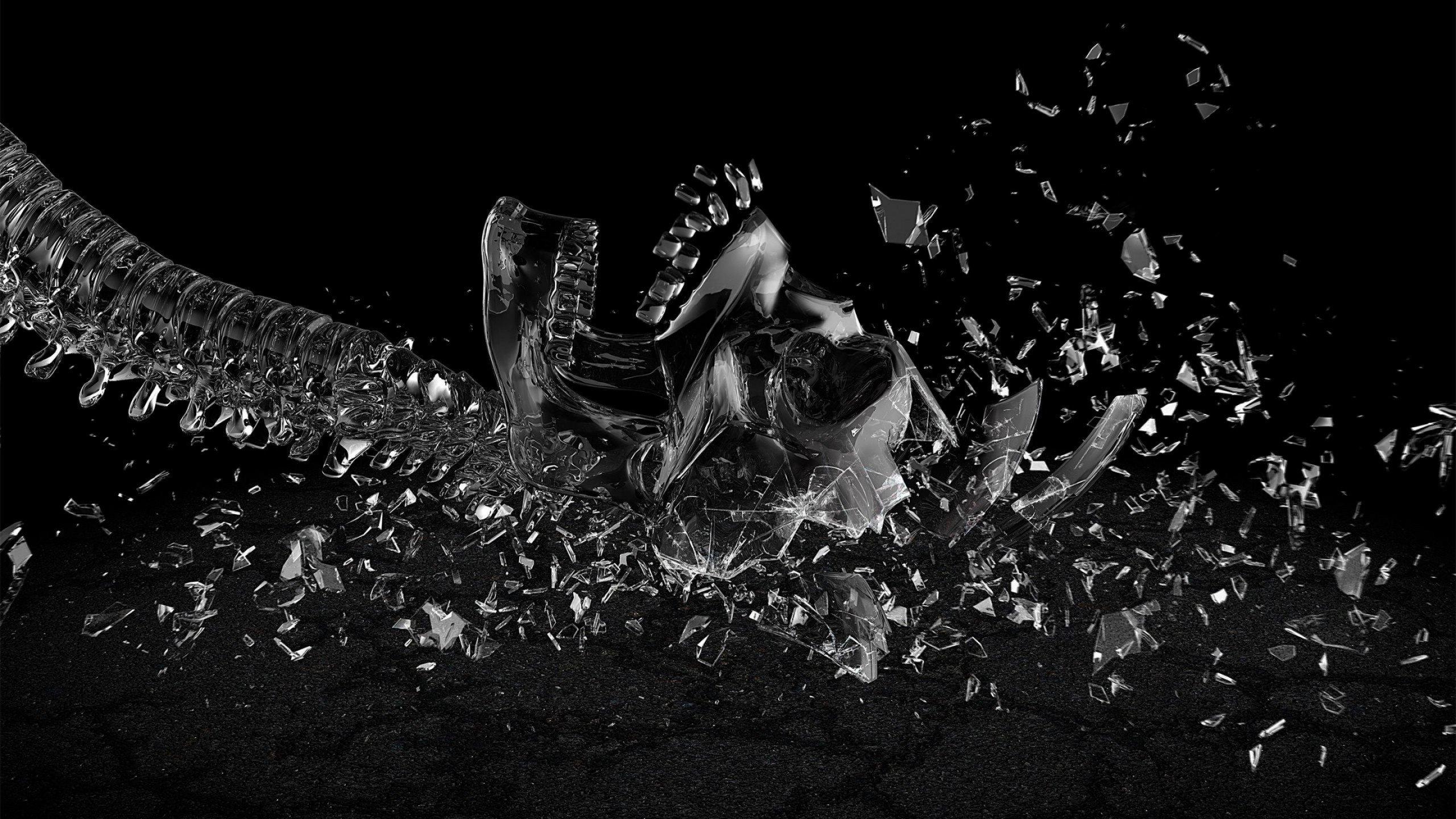 3d gebroken glas achtergrond HD wallpapers Gratis achtergronden 2560x1440