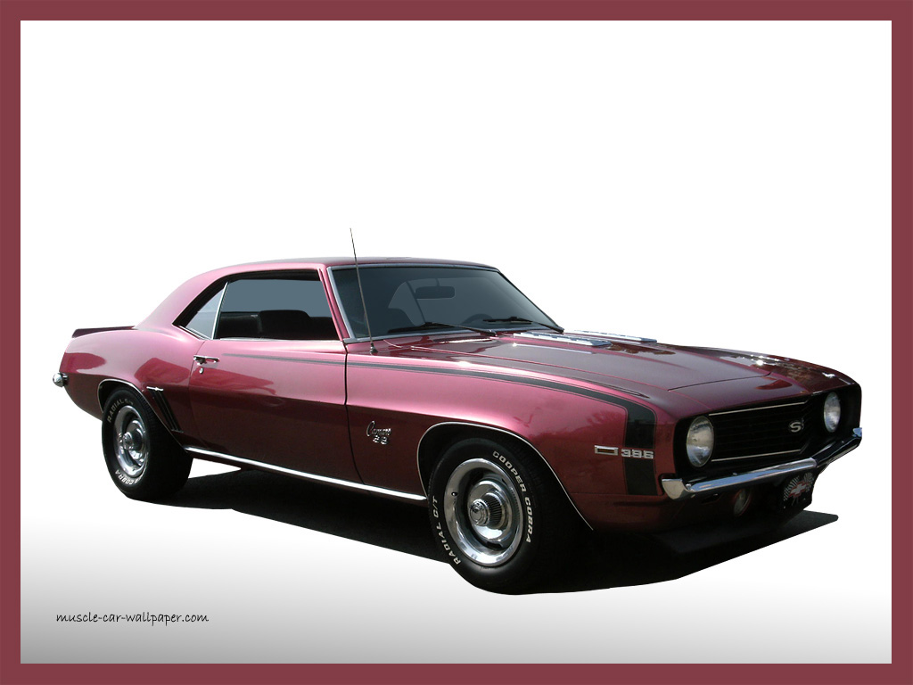 1969 Camaro SS Wallpaper   Burgandy Sport Coupe   Right Front View 1024x768