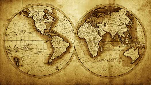 vintage and retro world map murals 525x298