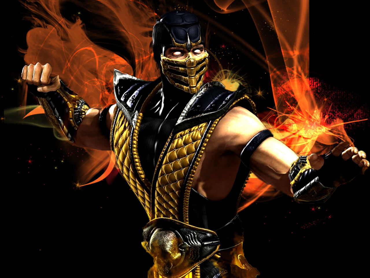 Mortal Kombat X Scorpio 3d Cool Video Games Wallpapers: Mortal Kombat Scorpion Wallpapers