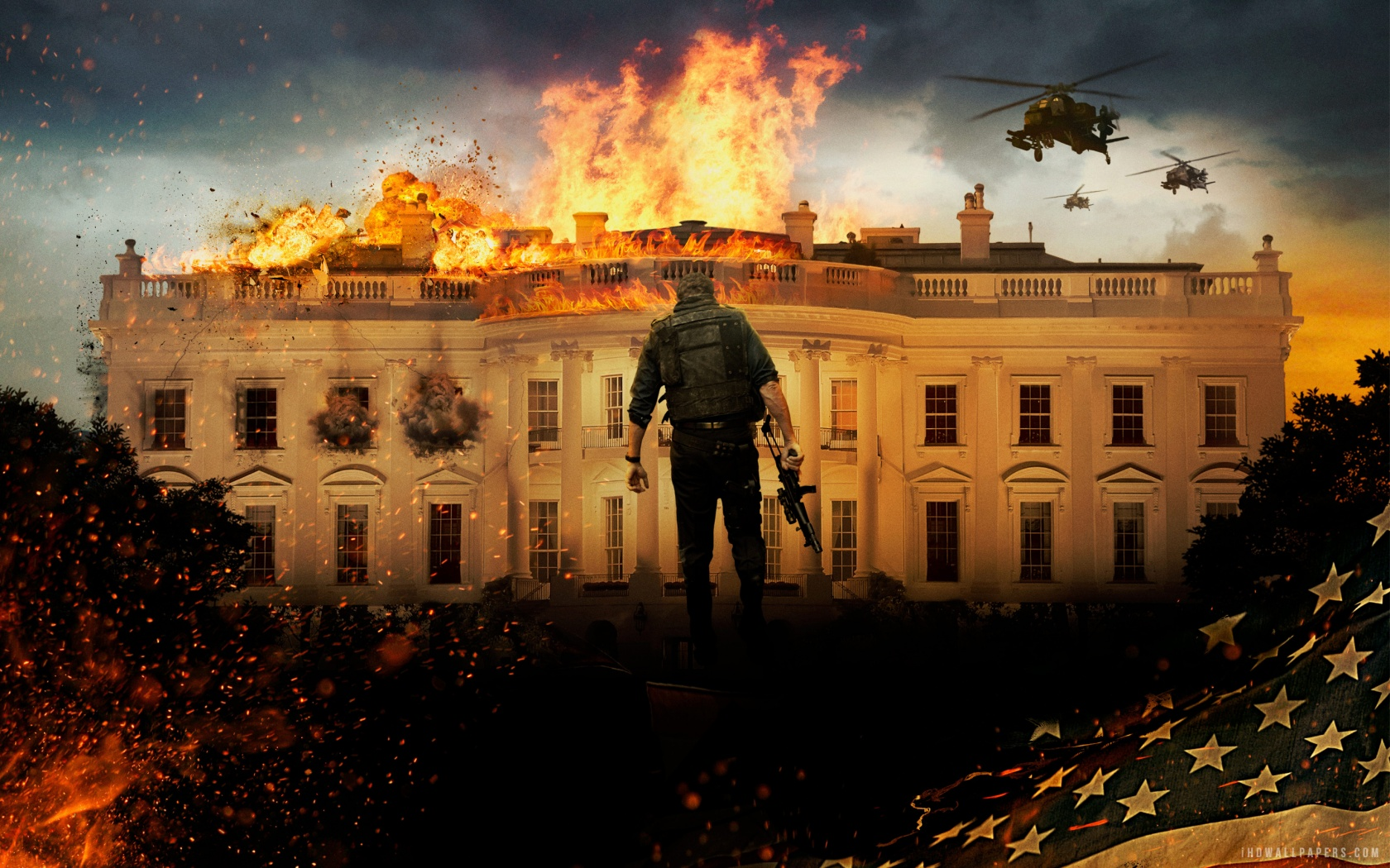 Olympus Has Fallen 2013 HD Wallpaper   iHD Wallpapers 1680x1050