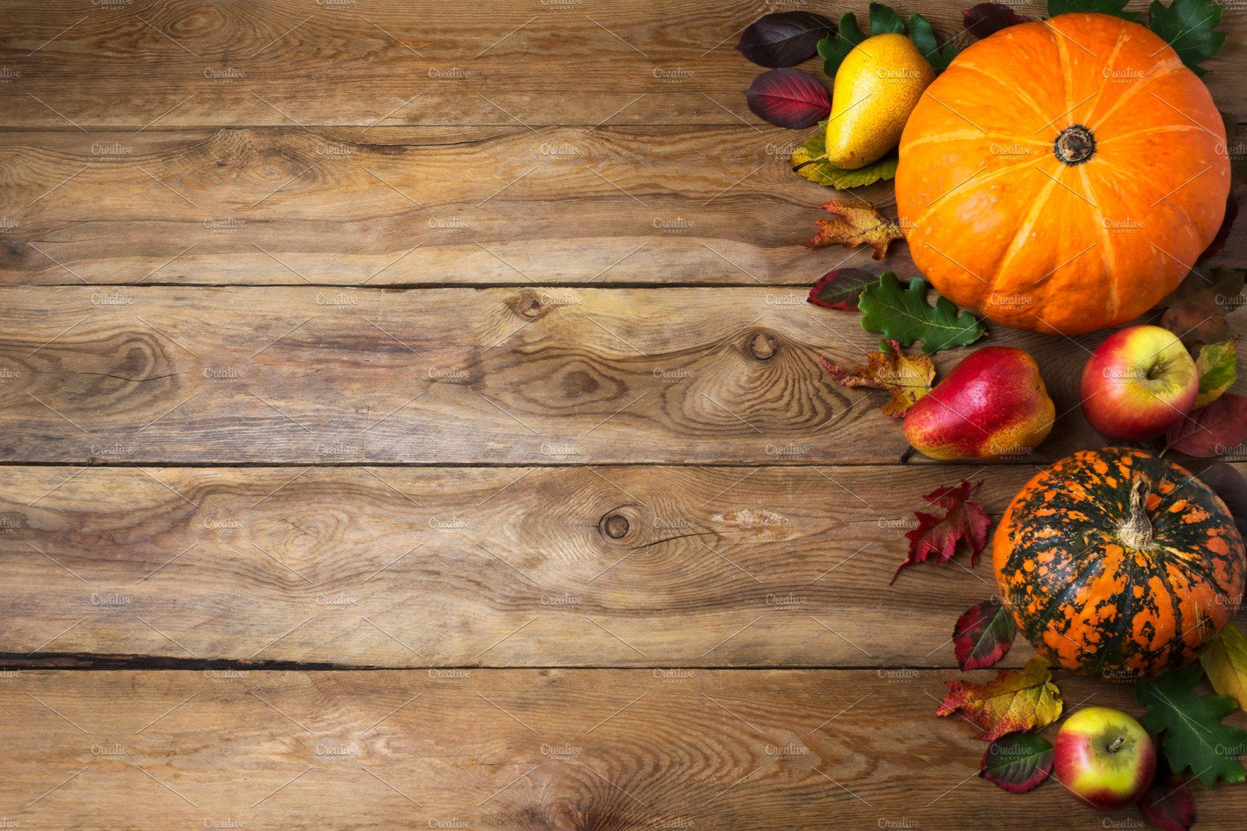 Fall rustic background with pumpkin Thanksgiving background 1820x1213