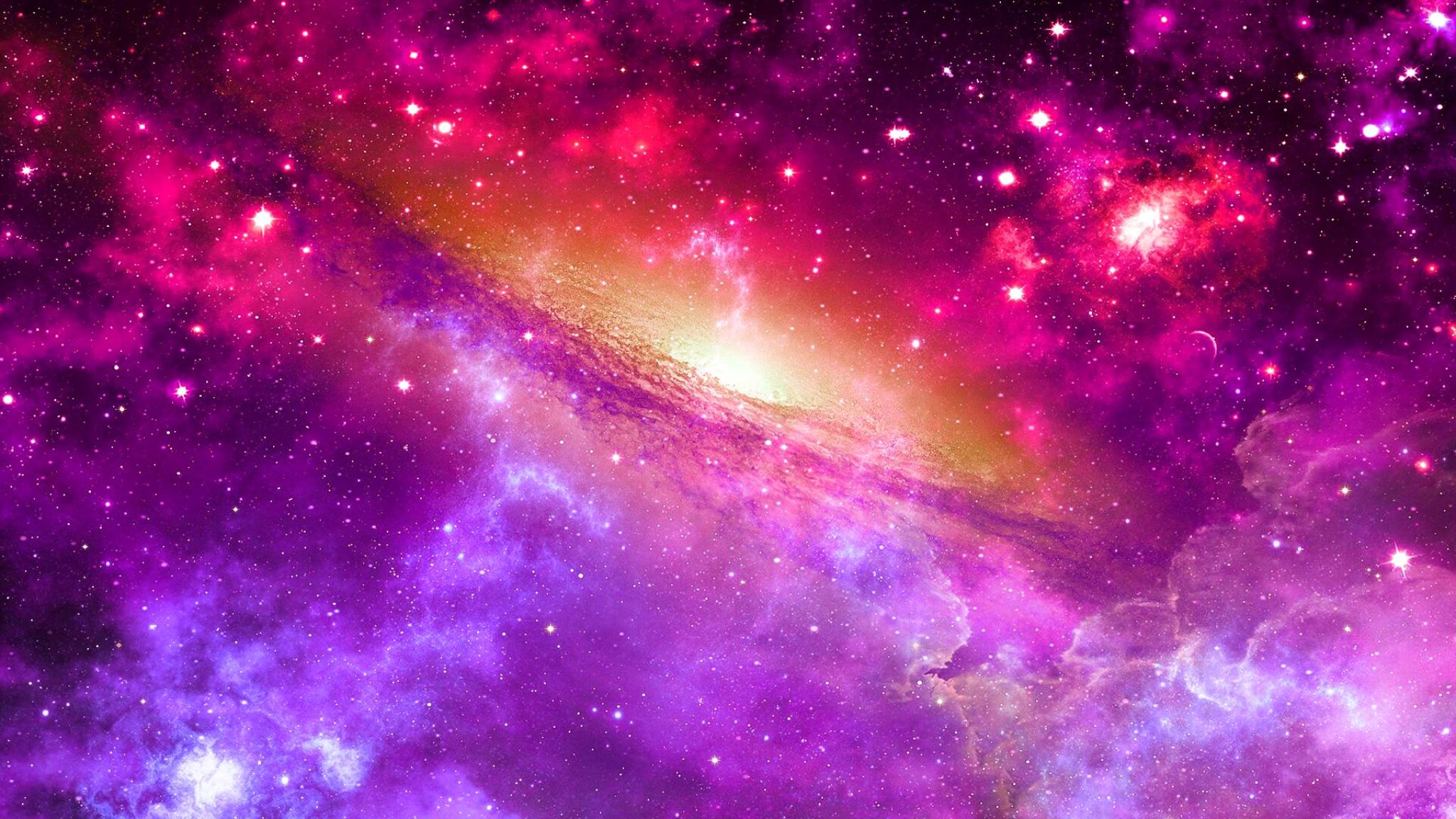 Download Wallpaper 2048x1152 space universe nebula star light HD 2048x1152