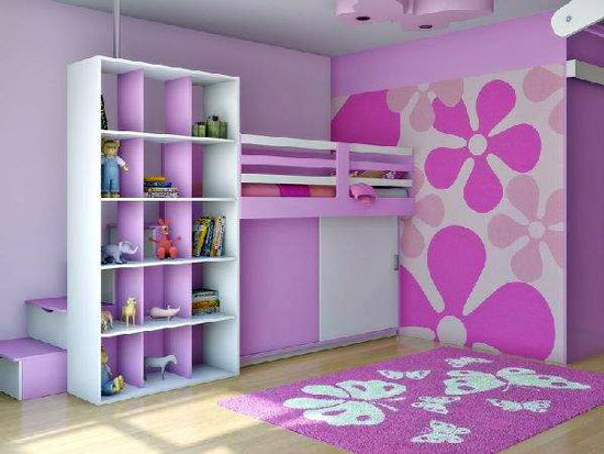 Wallpaper for Kids Bedroom HomeIzycom 550x413