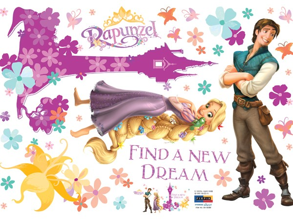Disney Tangled Rapunzel Magical Tower Wall Stickers   wallstickerycom 600x450