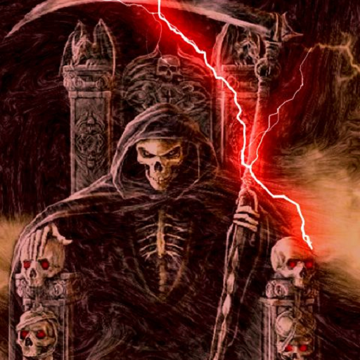 Red Lightning Grim Reaper Live Wallpaper Appstore for Android 512x512