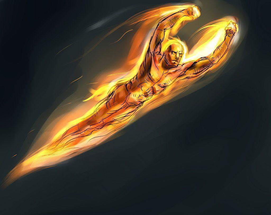 Human Torch Wallpapers 1024x812