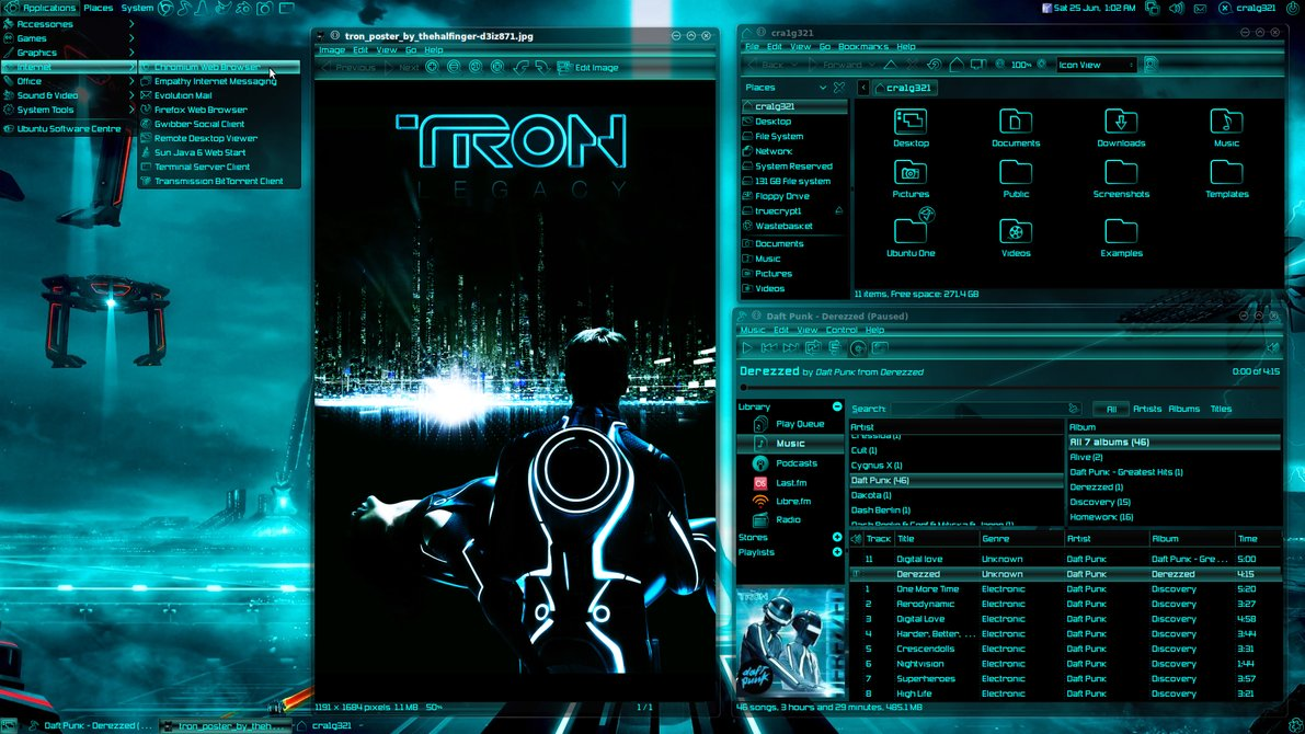 DeviantArt More Like CrunchBang Linux Tron new 2 by cra1g321 1191x670