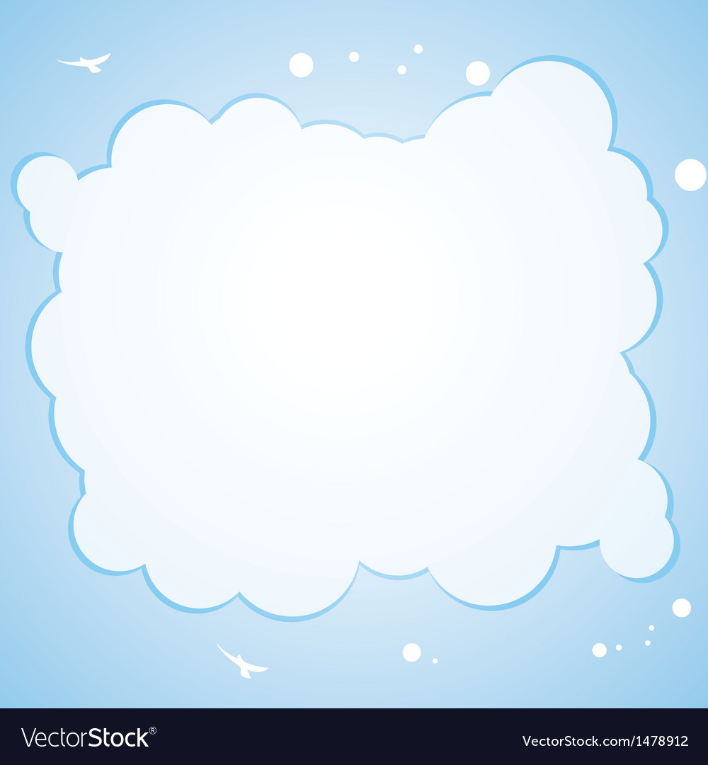 Cloud border background Royalty Vector Image 1000x1080