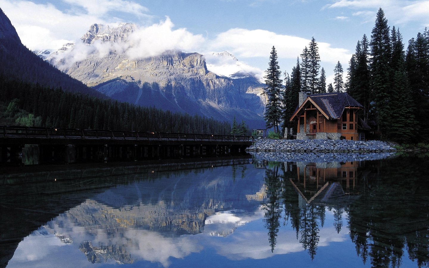 chalet au bord du lac Wallpaper   ForWallpapercom 1440x900