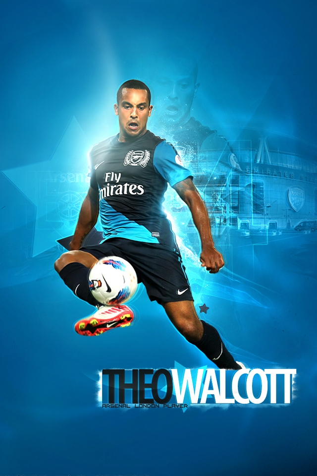 Arsenal   Theo Walcott iPhone Wallpaper iPod Wallpaper HD 640x960