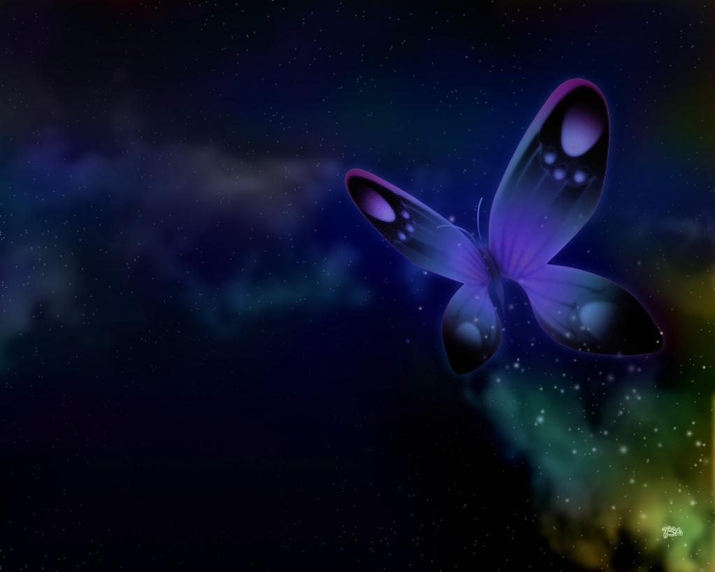Purple Butterfly Anime Desktop Wallpapers 1024x819