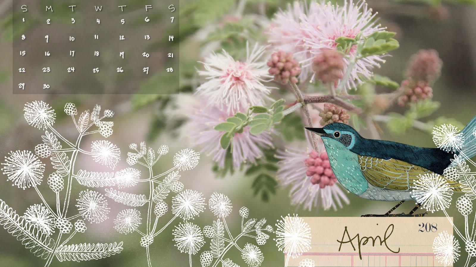 April 2012 desktop calendar wallpaper Geninnes Art blog 1600x900