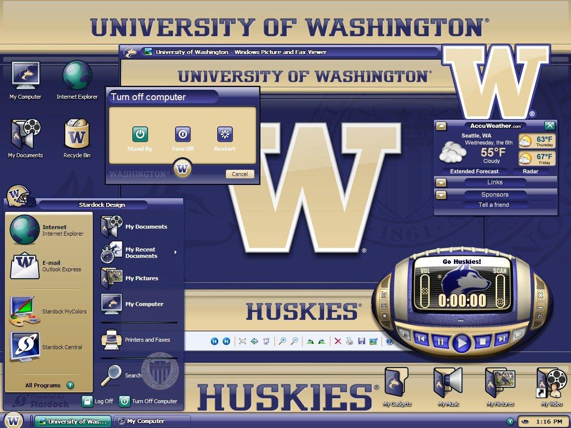 MyColors University of Washington Desktop Screenshot 1 of 4 1151x863