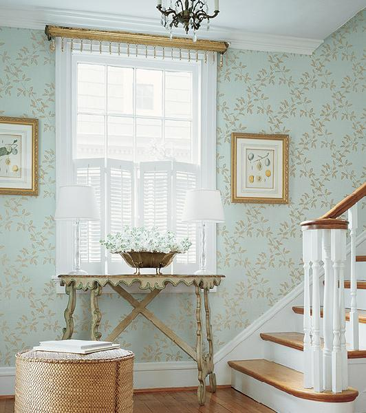 Wallpaper for Foyer   Cottage   entrancefoyer   Thibaut Design 532x600